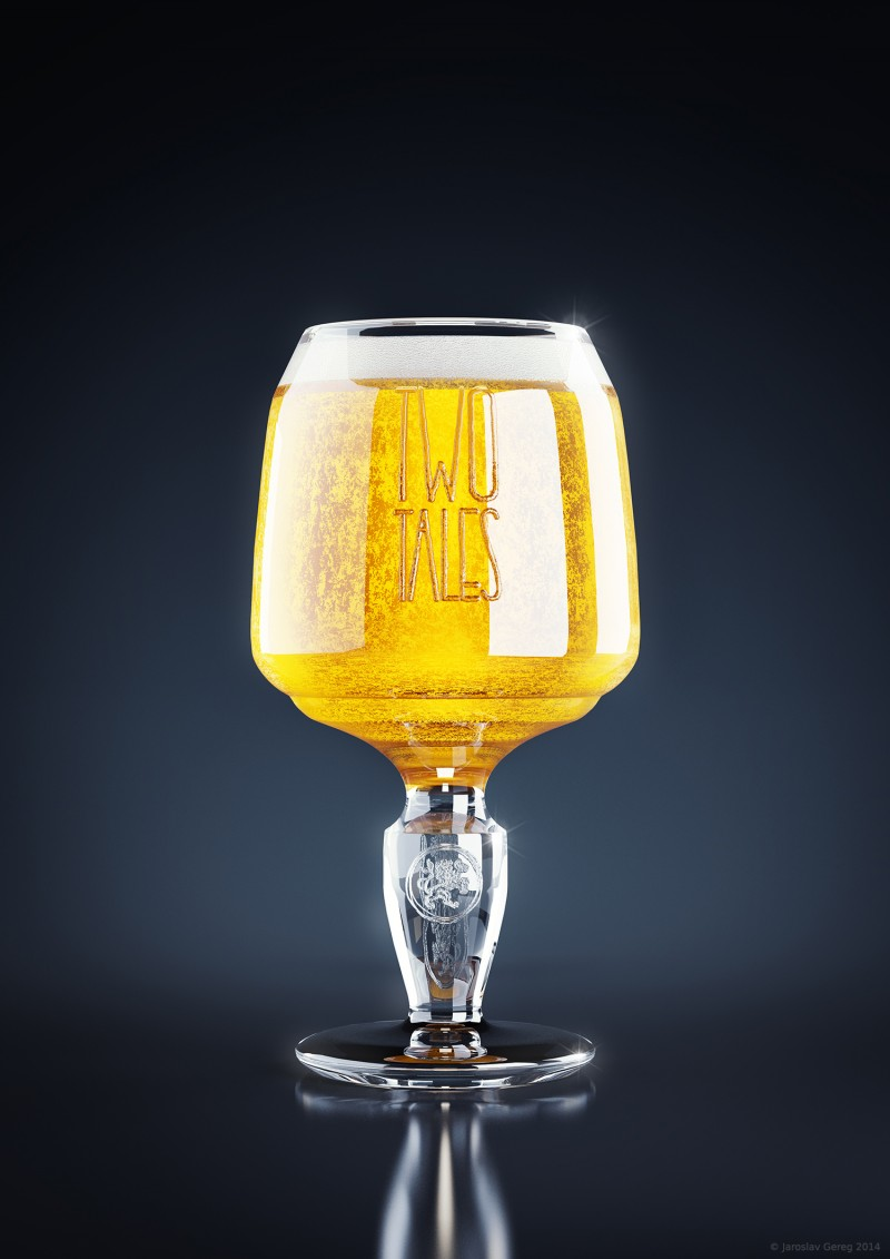 Two Tales - render of beer glass